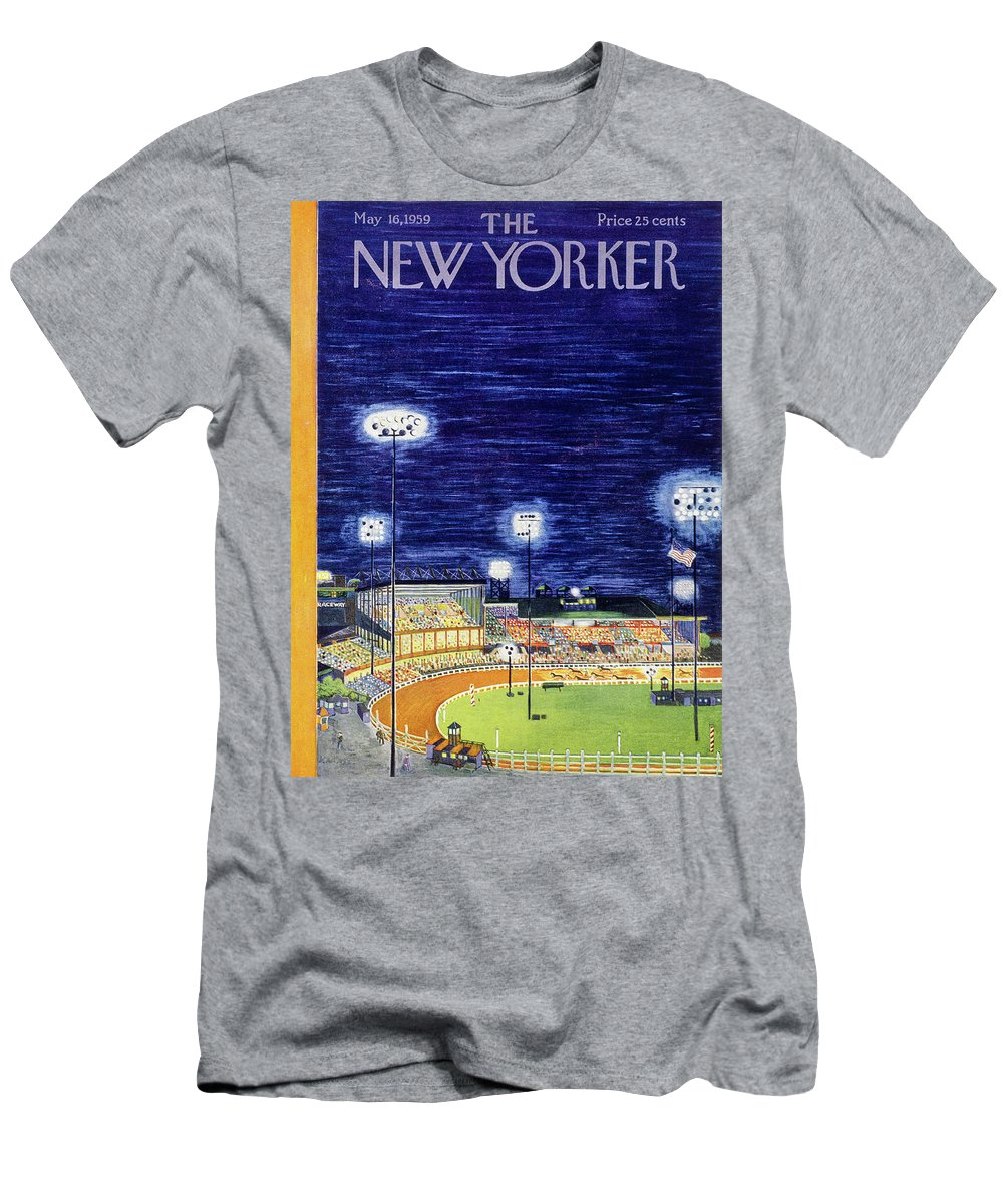Arena T-Shirt featuring the painting New Yorker May 16 1959 by Ilonka Karasz