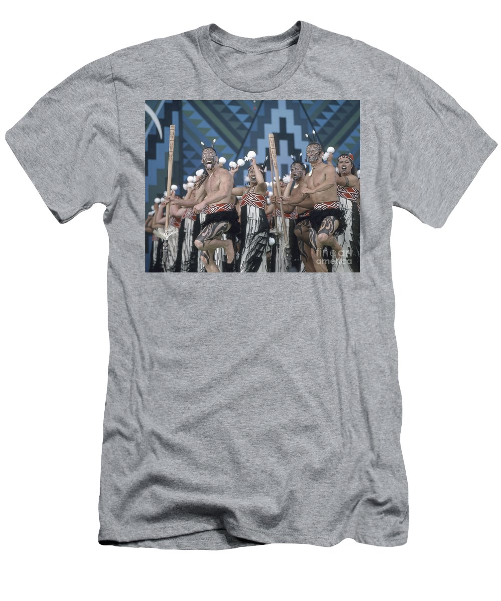 Beautiful T-Shirt featuring the photograph New Zealand,north island, Rotorua Arts Festival,dance and singi by Juergen Held