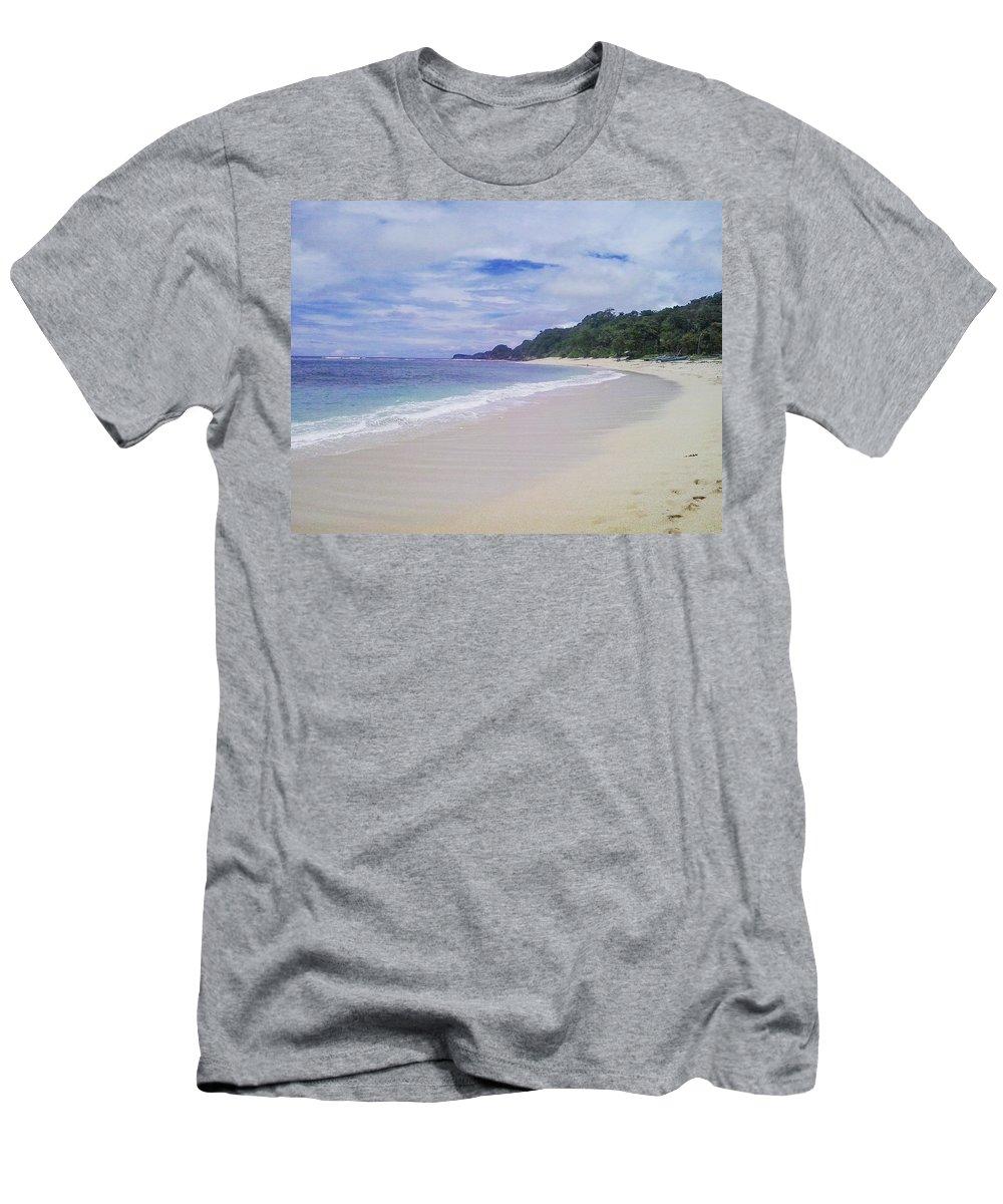 Beach Men's T-Shirt (Athletic Fit) featuring the photograph Ngliyep Beach by Ayu Latuconsina