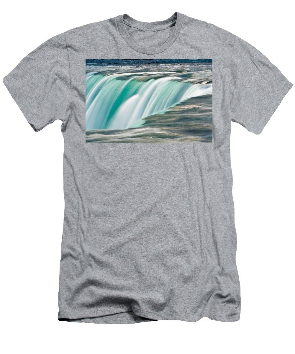 Niagara Men's T-Shirt (Athletic Fit) featuring the photograph Niagara Falls Number 2 by Steve Gadomski