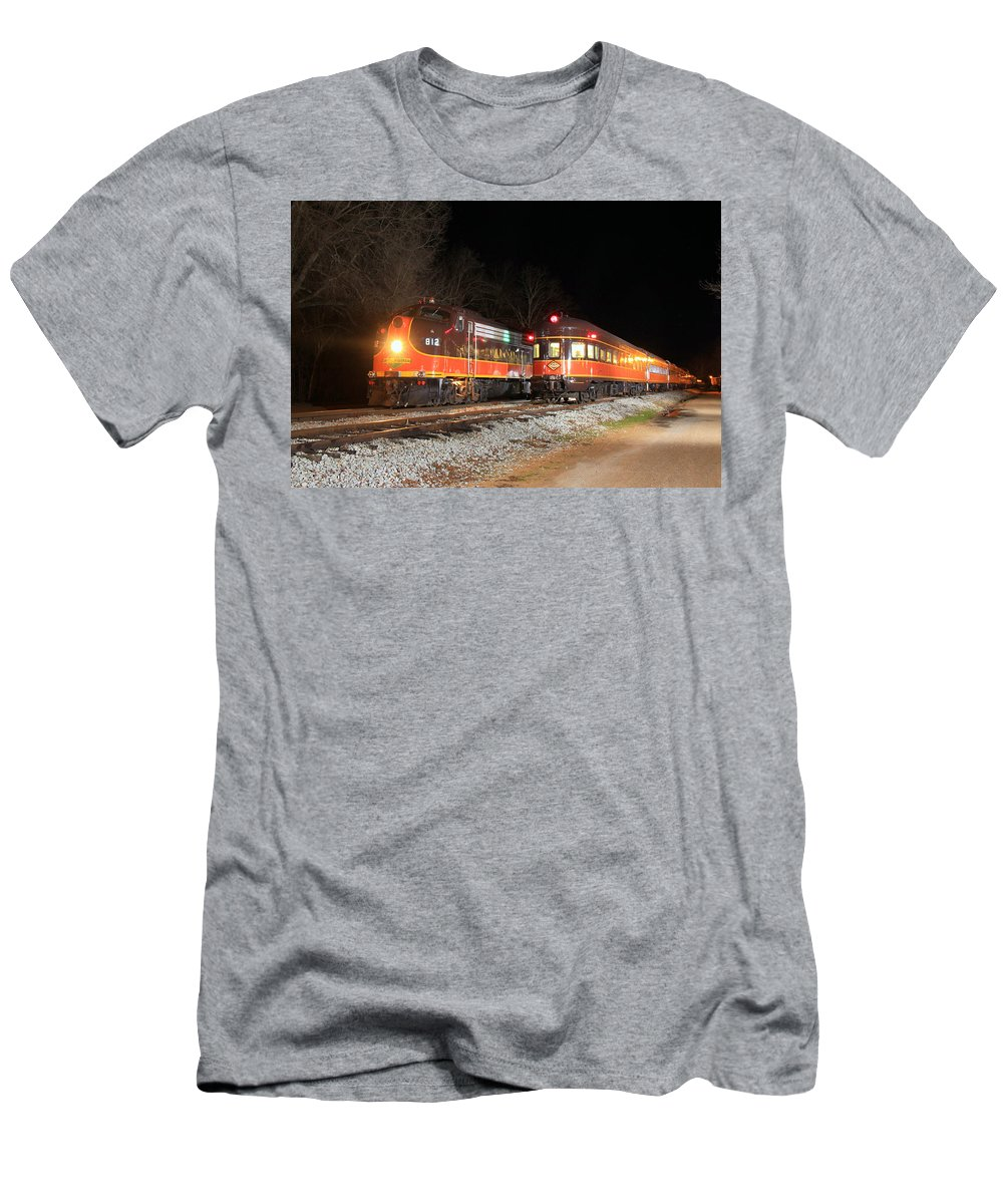 Men's T-Shirt (Athletic Fit) featuring the photograph Night Meet by Josh Putman