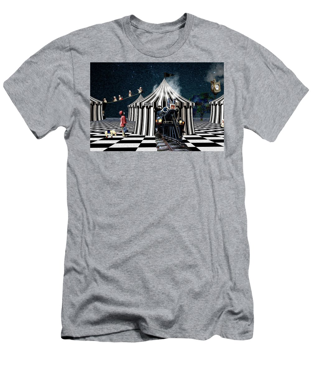 Circus Men's T-Shirt (Athletic Fit) featuring the digital art No Elephants by Suzanne Williams