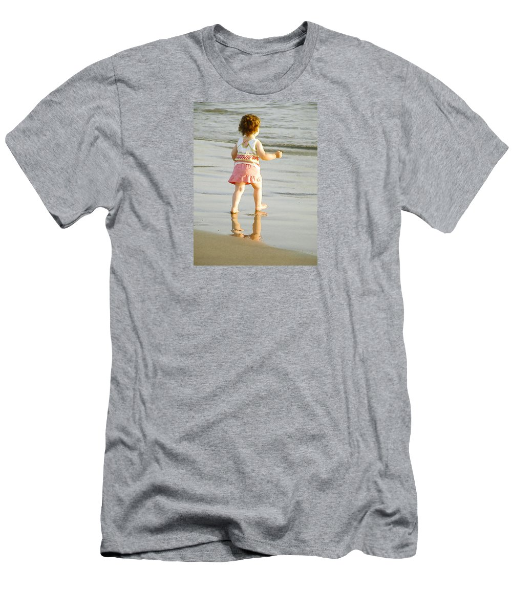 Beach Men's T-Shirt (Athletic Fit) featuring the photograph No Fear by Margie Wildblood
