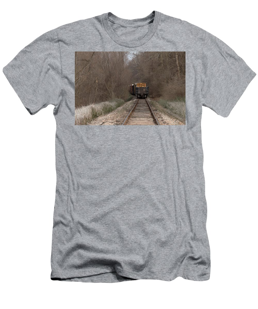 Train Men's T-Shirt (Athletic Fit) featuring the photograph No Looking Back by Beth Bonham