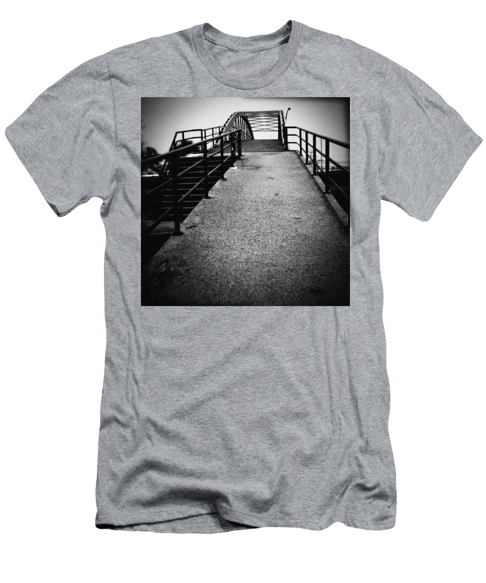 North Avenue Beach Bridge Men's T-Shirt (Athletic Fit) featuring the photograph North Avenue Beach Bridge by Kyle Hanson