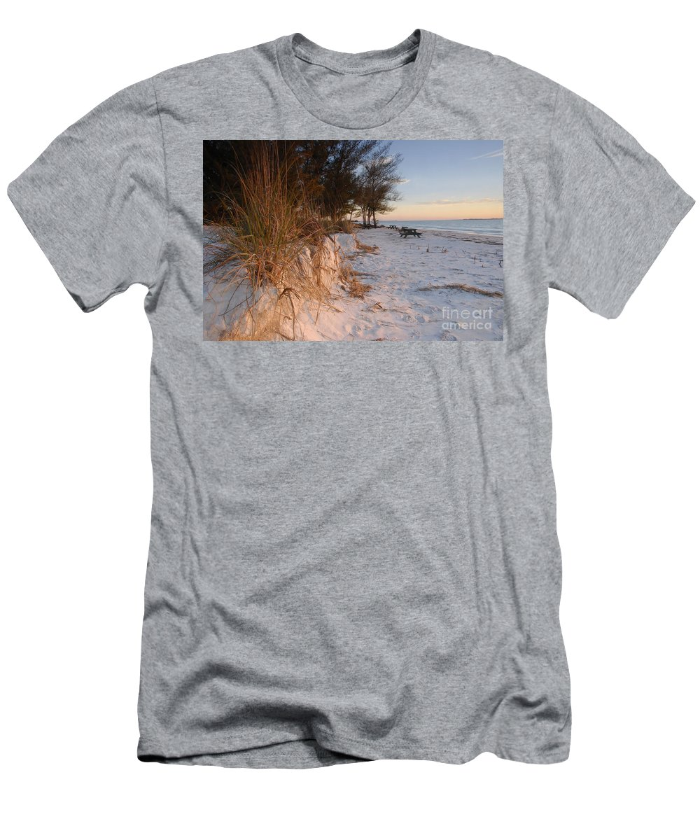 North Beach Men's T-Shirt (Athletic Fit) featuring the photograph North Beach by David Lee Thompson