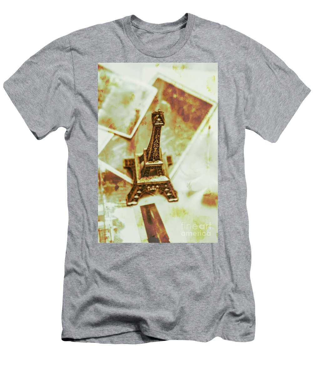 Vintage Men's T-Shirt (Athletic Fit) featuring the photograph Nostalgic Mementos Of A Paris Trip by Jorgo Photography - Wall Art Gallery