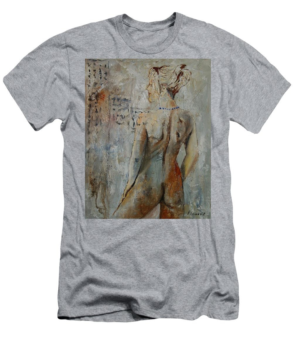Girl Men's T-Shirt (Athletic Fit) featuring the painting Nude 459020 by Pol Ledent