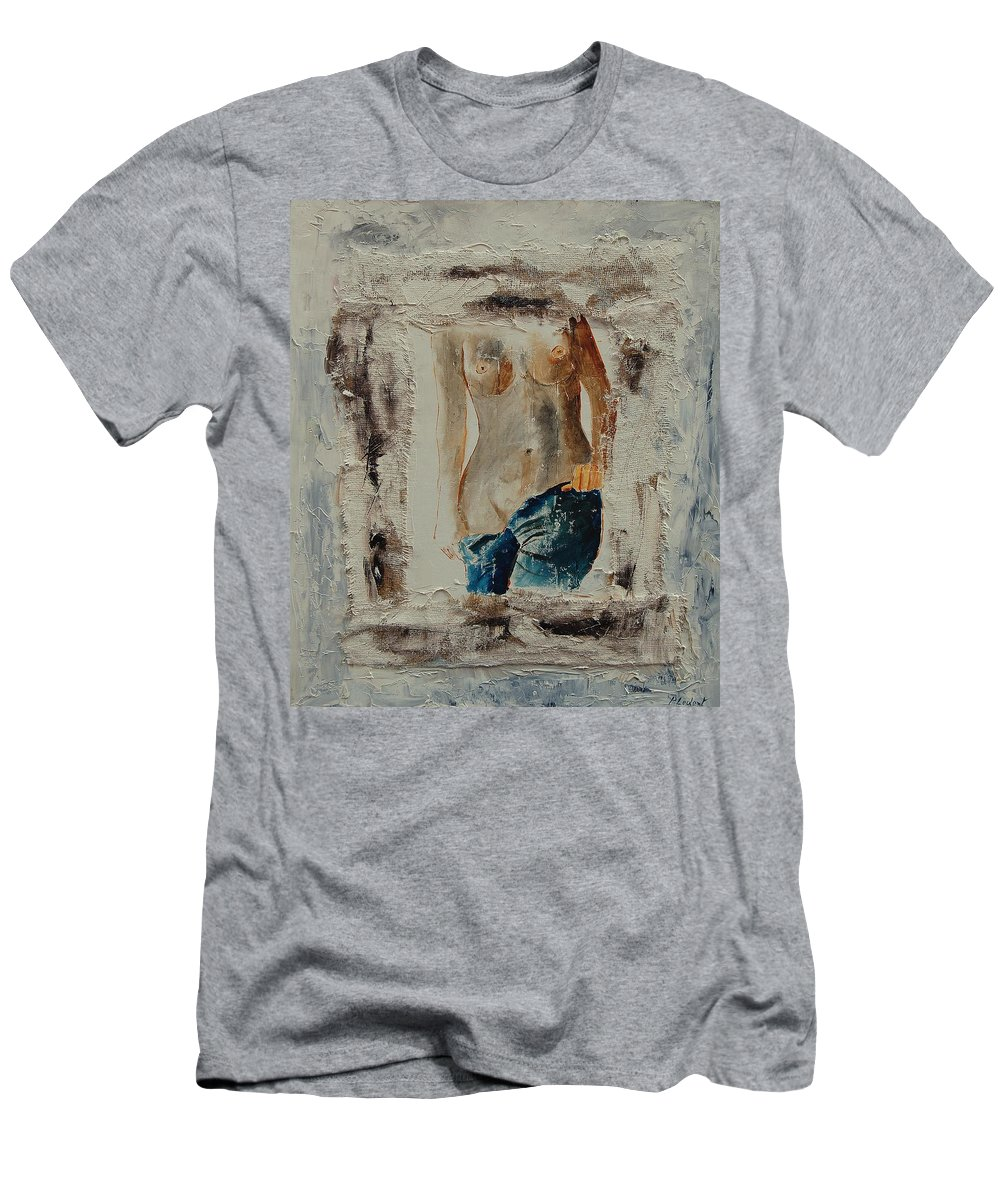 Girl Men's T-Shirt (Athletic Fit) featuring the painting Nude 674521 by Pol Ledent