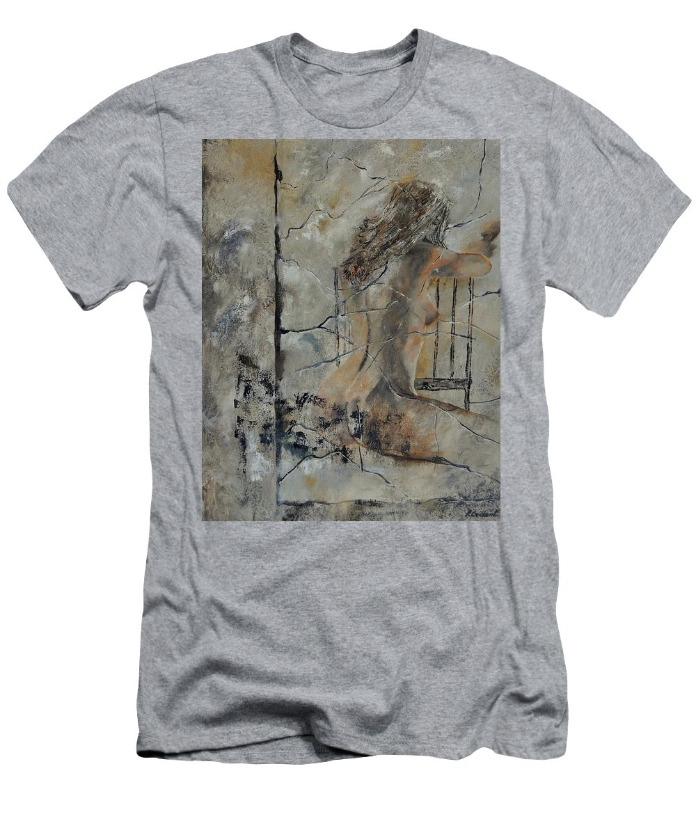Nude Men's T-Shirt (Athletic Fit) featuring the painting Nude 910111 by Pol Ledent