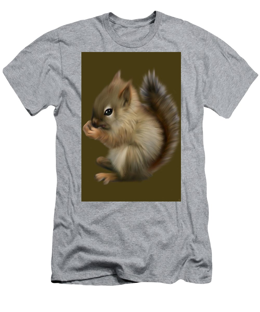 Baby Men's T-Shirt (Athletic Fit) featuring the painting Nutkin by Dave H