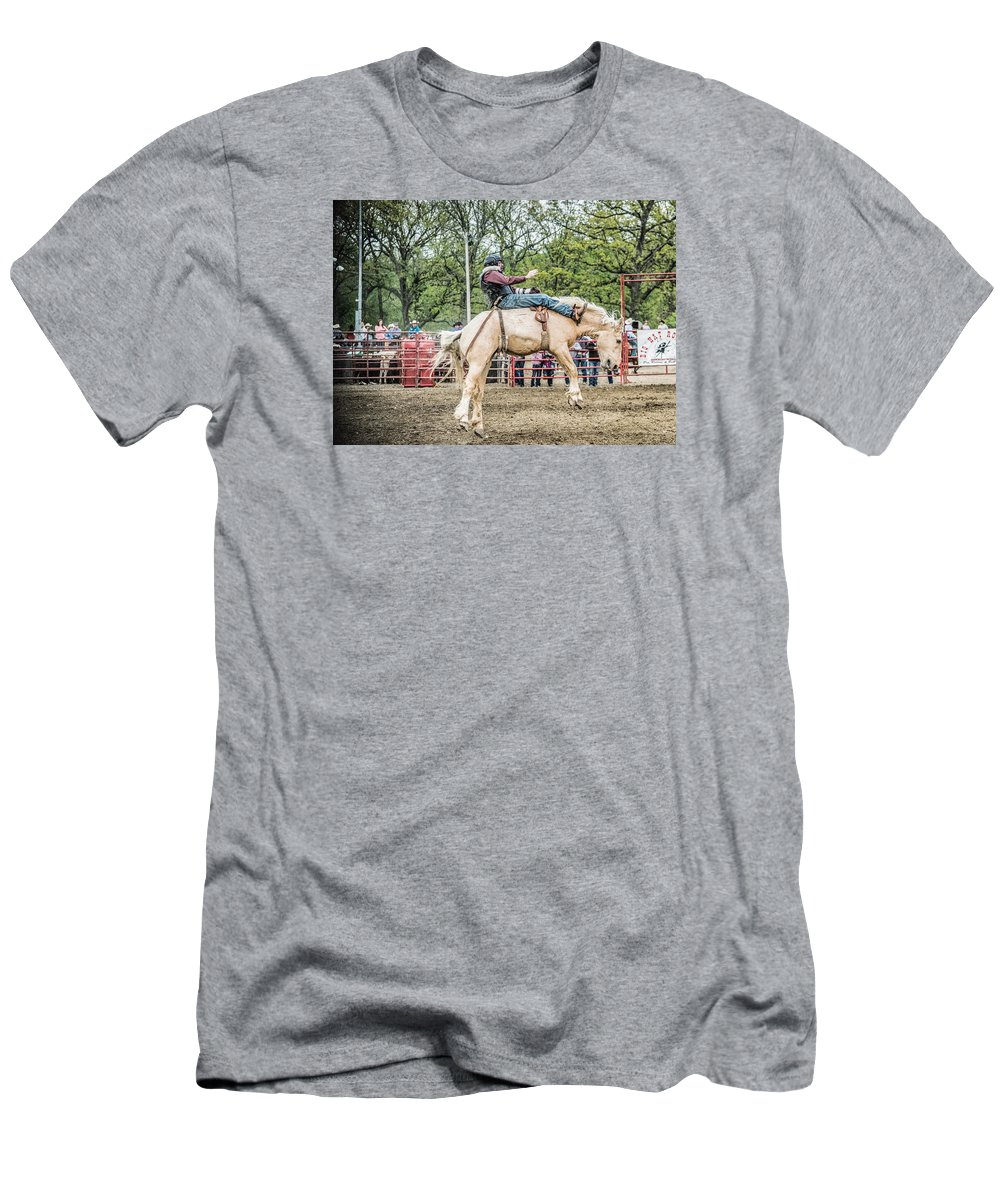 Orange & Blue Rodeo Men's T-Shirt (Athletic Fit) featuring the photograph O by Terry Brown