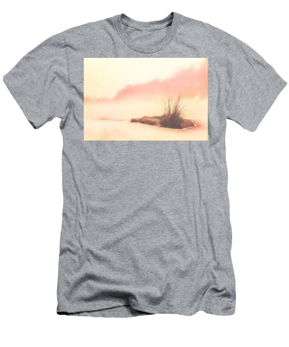 Lake Men's T-Shirt (Athletic Fit) featuring the photograph Oasis On Ice by Greg Collins