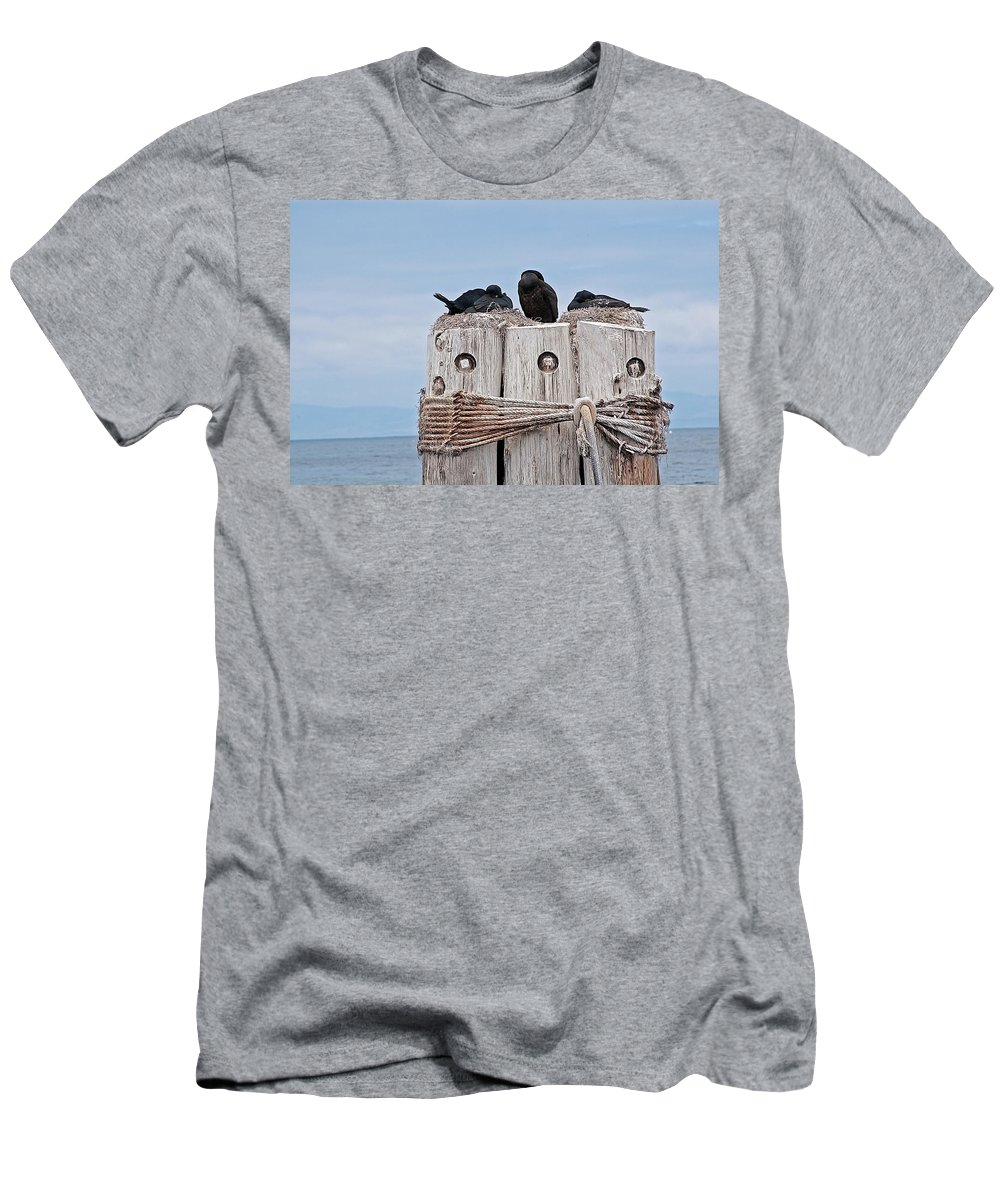 Bird Men's T-Shirt (Athletic Fit) featuring the photograph Ocean Living by Jay Billings