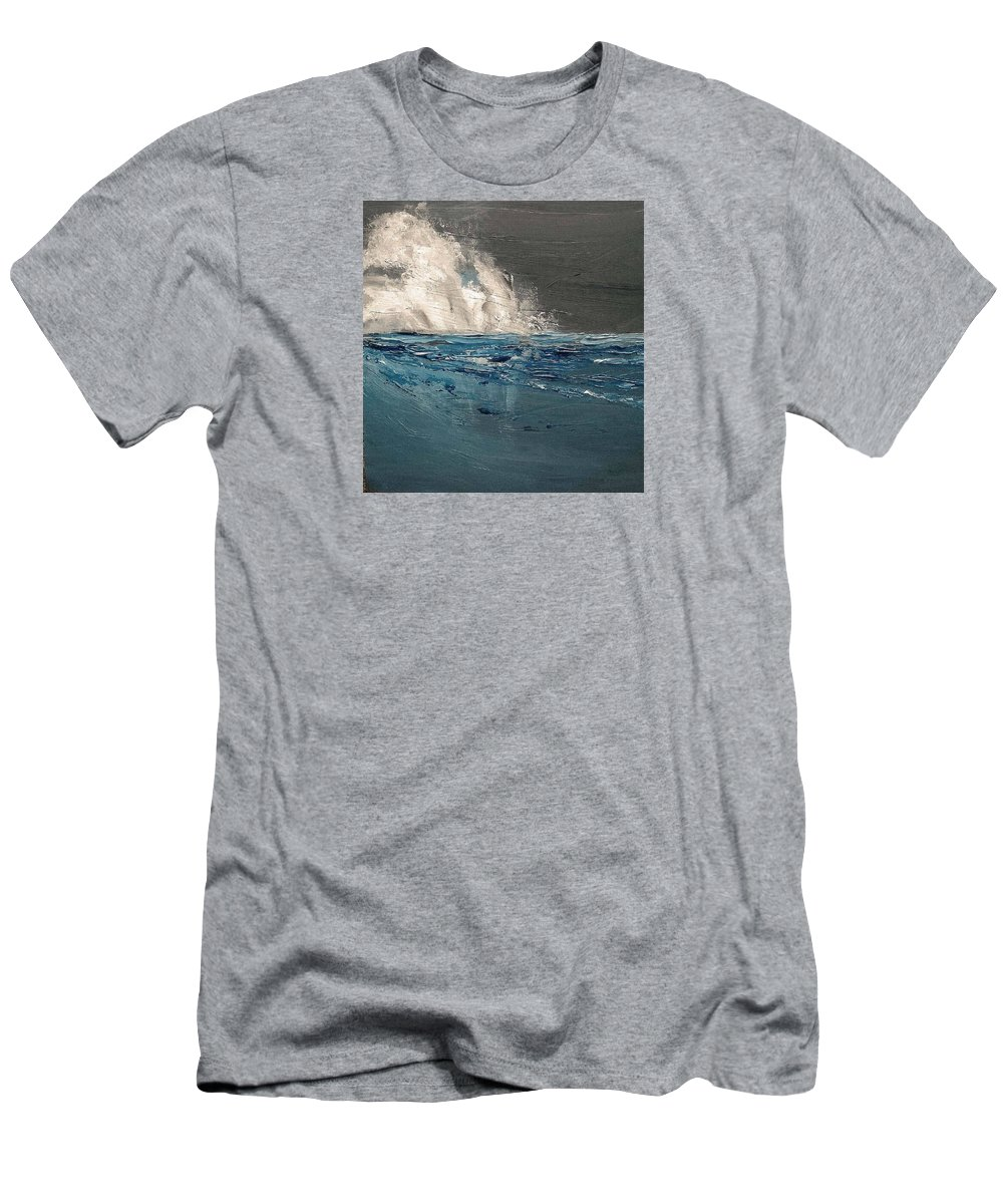 Ocean Men's T-Shirt (Athletic Fit) featuring the painting Ocean Night's Song by PJ McNally