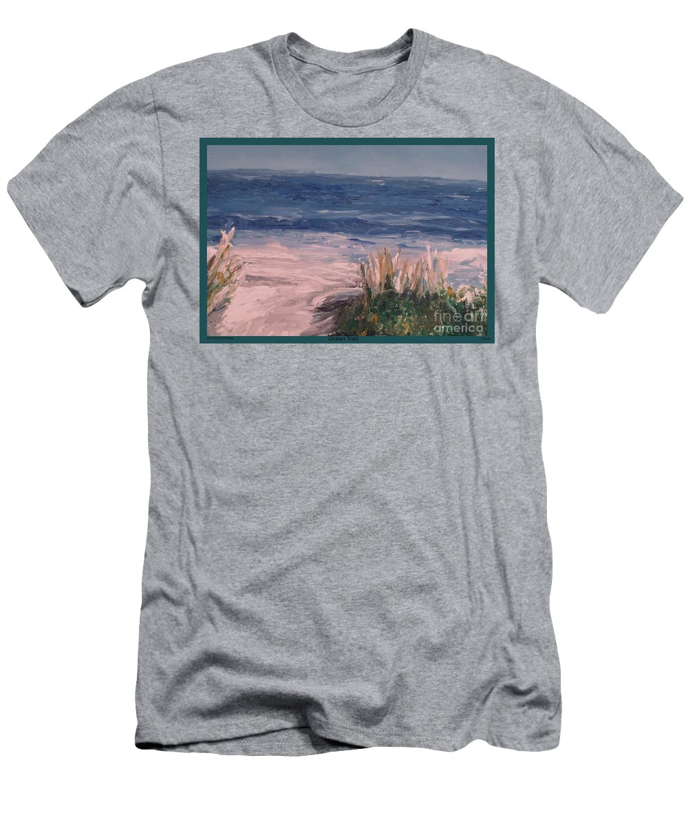 Ocean Men's T-Shirt (Athletic Fit) featuring the painting Ocean Trail by Eric Schiabor