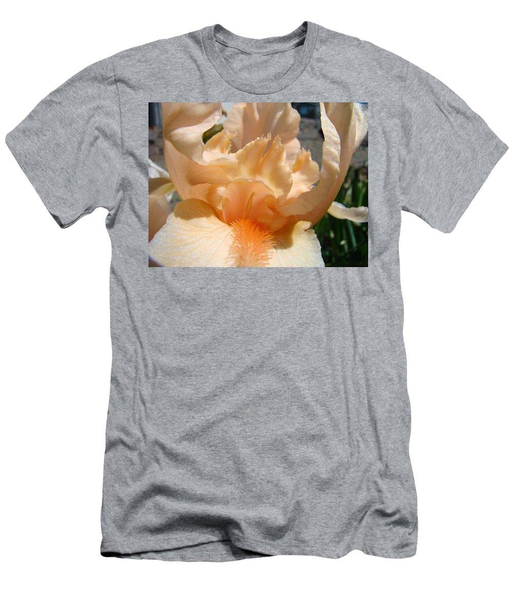 �irises Artwork� Men's T-Shirt (Athletic Fit) featuring the photograph Office Art Irises Flower Orange Iris Flower Giclee Art Prints Baslee Troutman by Baslee Troutman