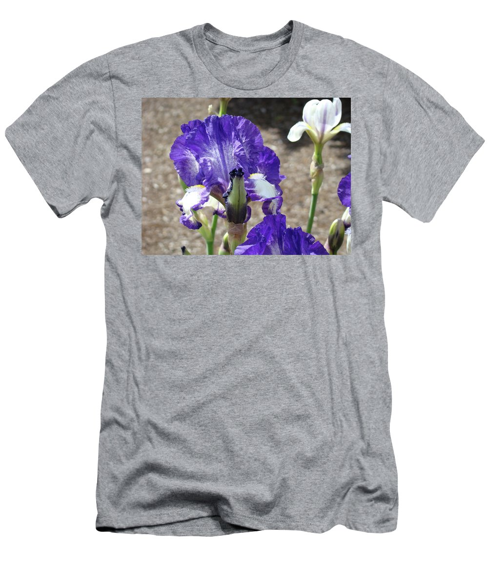 Office Men's T-Shirt (Athletic Fit) featuring the photograph Office Art Prints Irises Flowers 46 Iris Flower Giclee Prints Baslee Troutman by Baslee Troutman