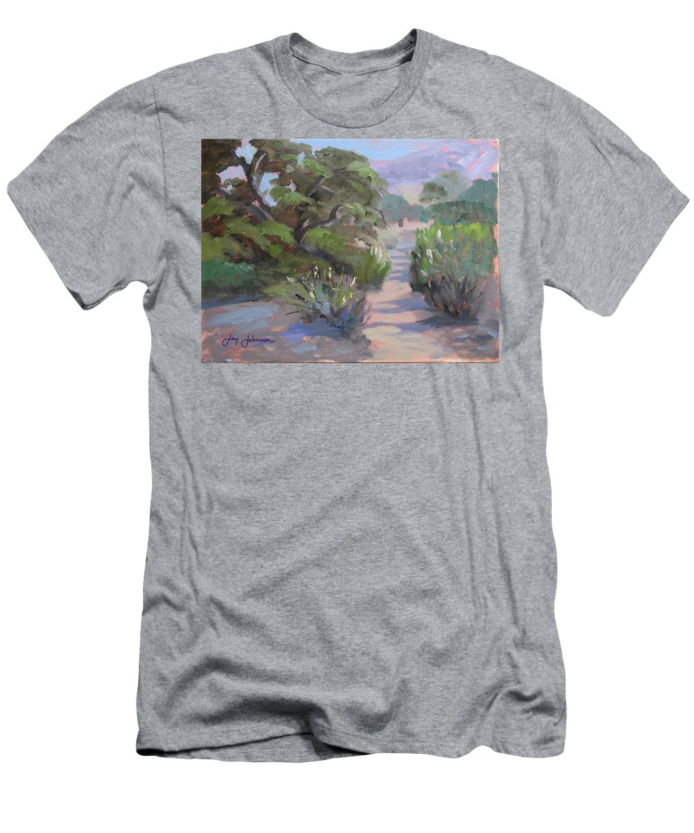 Landscape Men's T-Shirt (Athletic Fit) featuring the painting Old Agoura by Jay Johnson