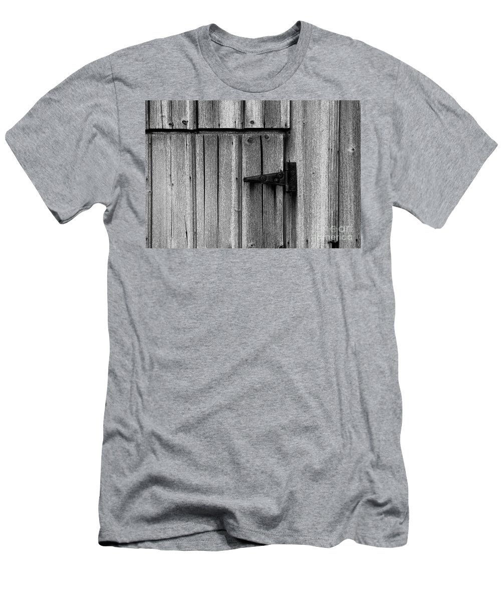 Old Men's T-Shirt (Athletic Fit) featuring the photograph Old Barn Door by Timothy Johnson