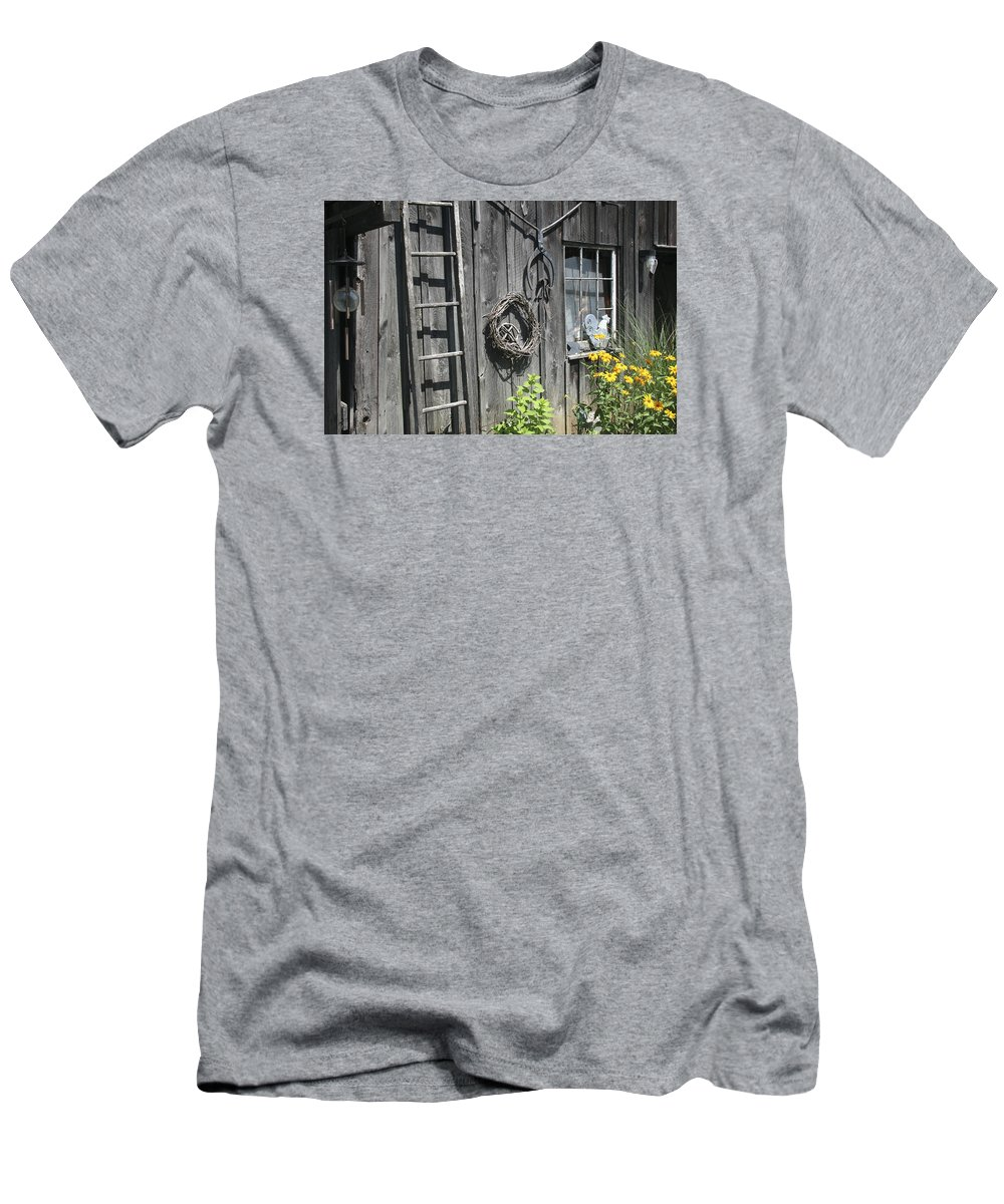 Barn Men's T-Shirt (Athletic Fit) featuring the photograph Old Barn II by Margie Wildblood