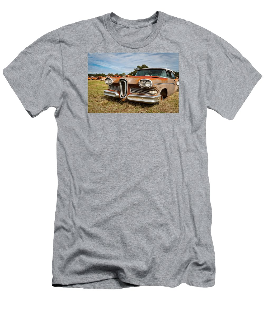 Canon Men's T-Shirt (Athletic Fit) featuring the photograph Old Edsel by Tim Stanley