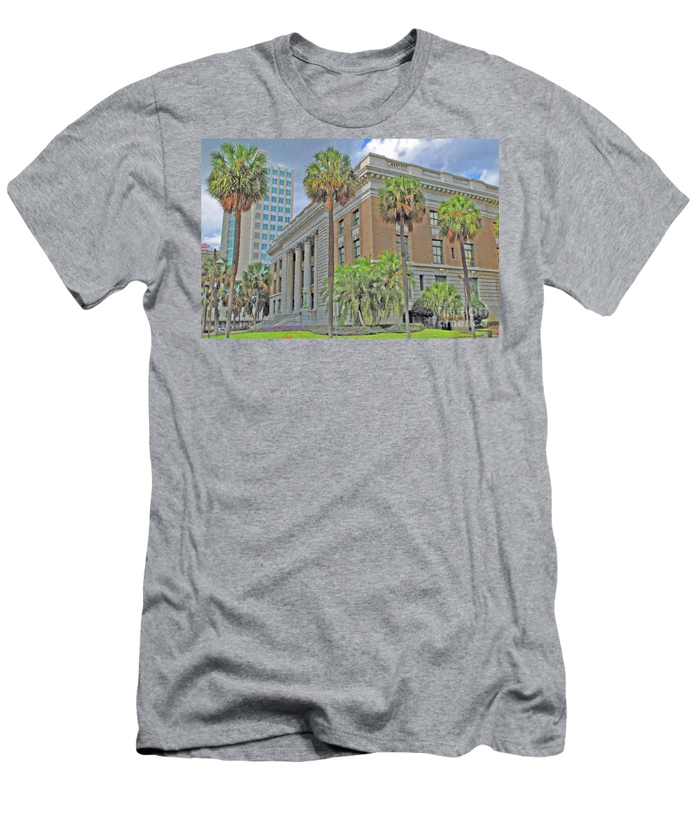 Tampa Men's T-Shirt (Athletic Fit) featuring the photograph Old Federal Building by Jost Houk