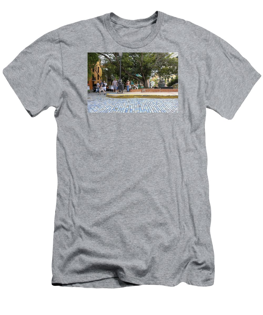 Old San Juan Men's T-Shirt (Athletic Fit) featuring the photograph Streets Of Old San Juan by Bethzali Mongare