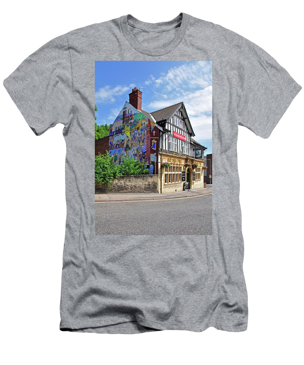 Outdoors Men's T-Shirt (Athletic Fit) featuring the photograph Old Silk Mill - Derby by Rod Johnson