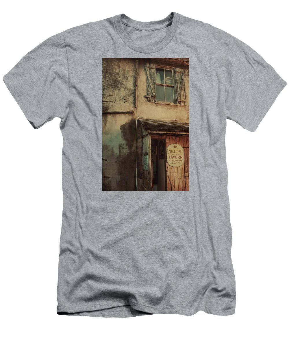 Tavern Men's T-Shirt (Athletic Fit) featuring the photograph Old Tavern by Dario Boriani