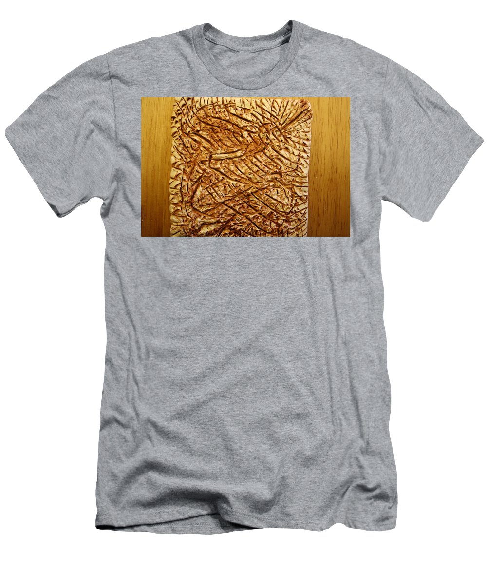 Jesus Men's T-Shirt (Athletic Fit) featuring the ceramic art Old Thoughts - Tile by Gloria Ssali