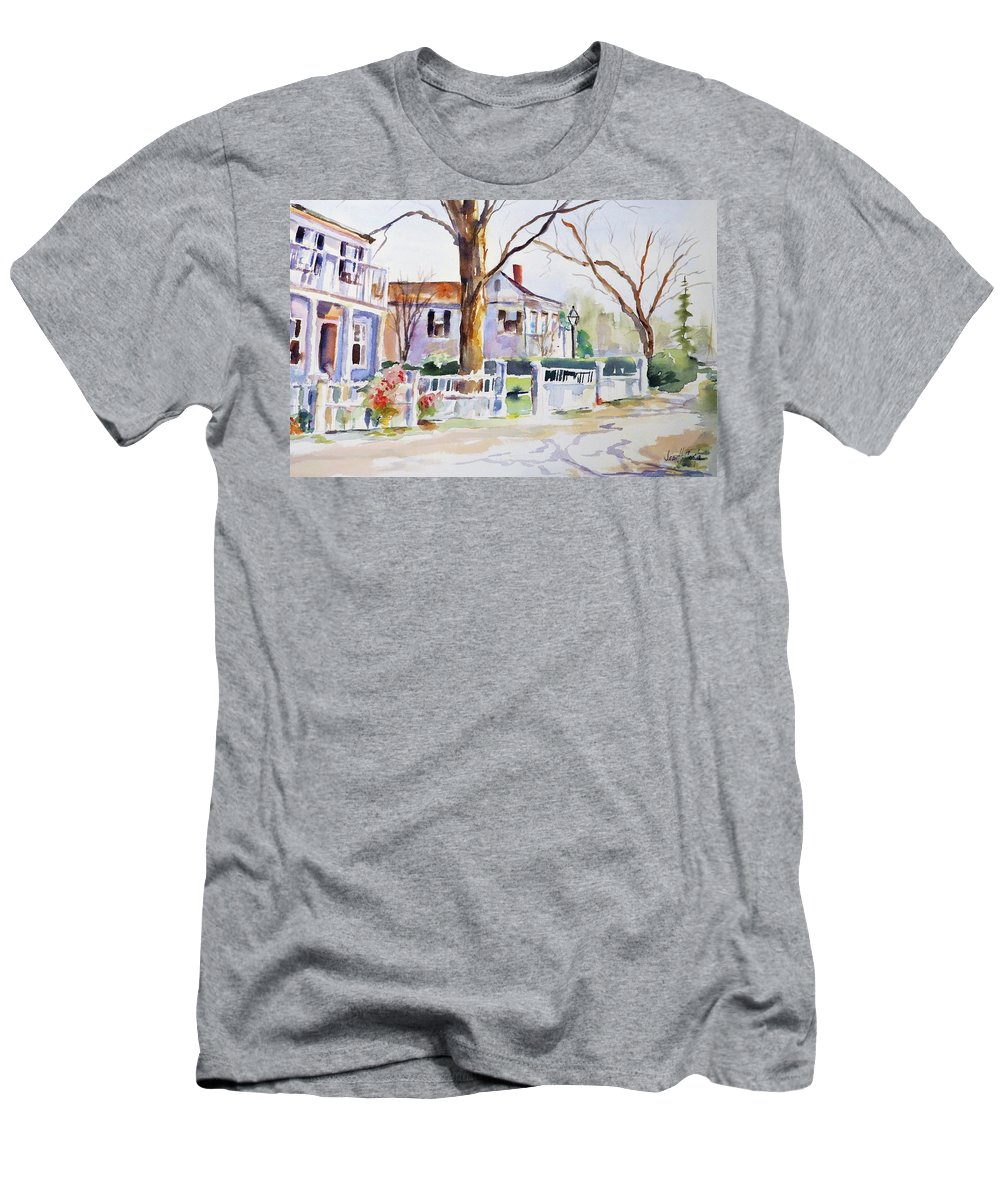 Old Town Men's T-Shirt (Athletic Fit) featuring the painting Old Town by Jean Costa
