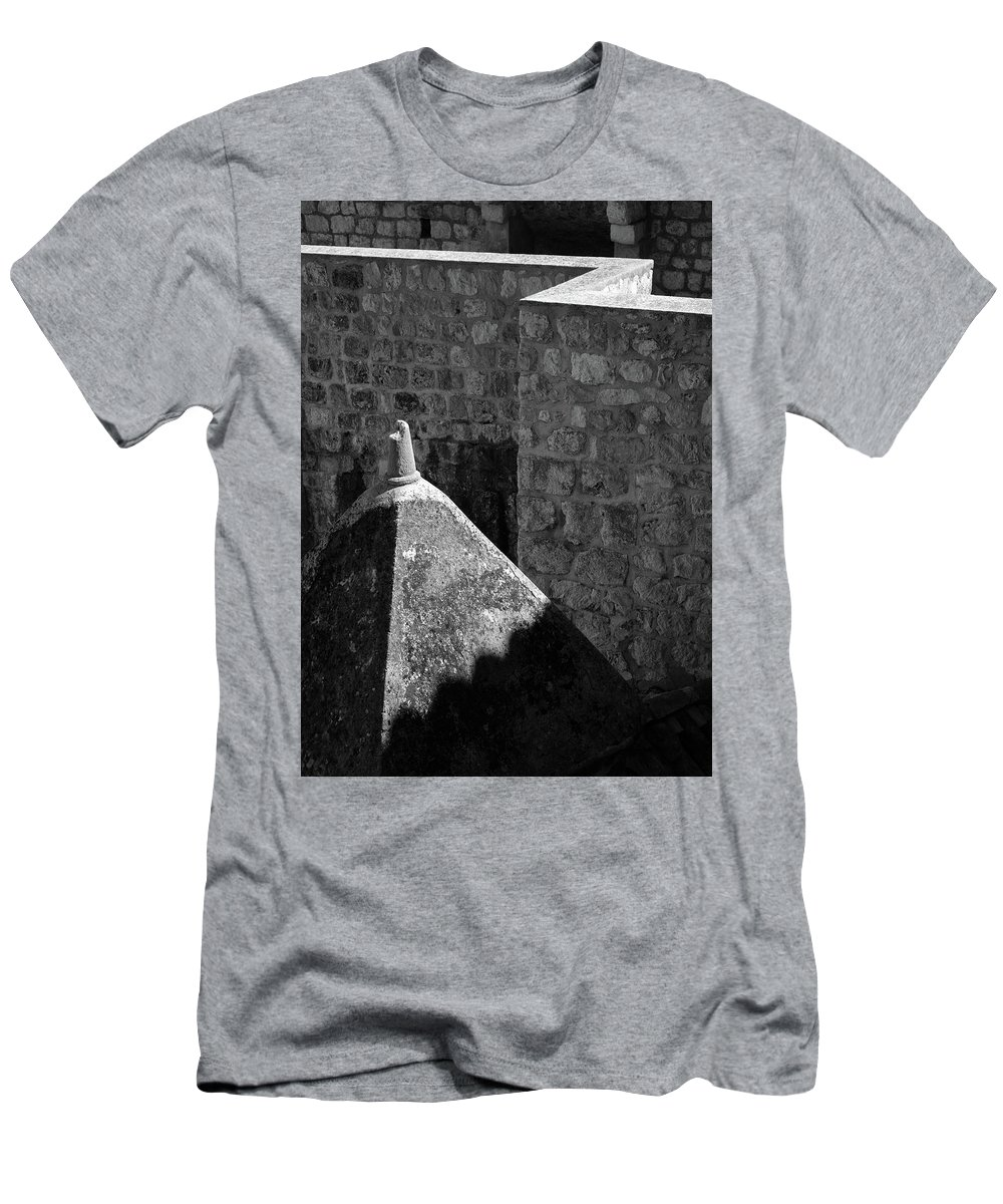 Dubrovnik Men's T-Shirt (Athletic Fit) featuring the photograph Old Town Walls by Dave Bowman