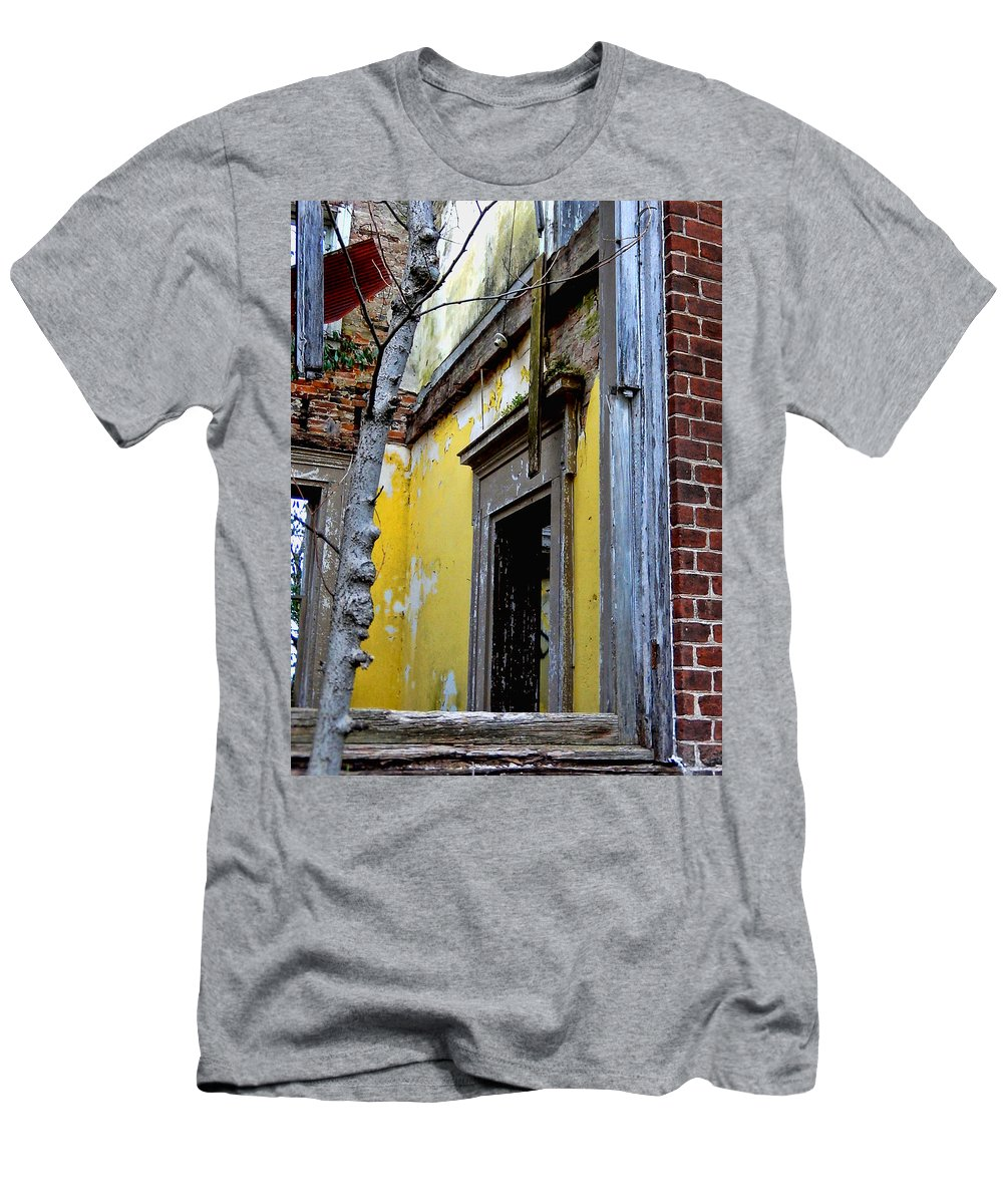 Window Men's T-Shirt (Athletic Fit) featuring the photograph Old Window by Bob Welch