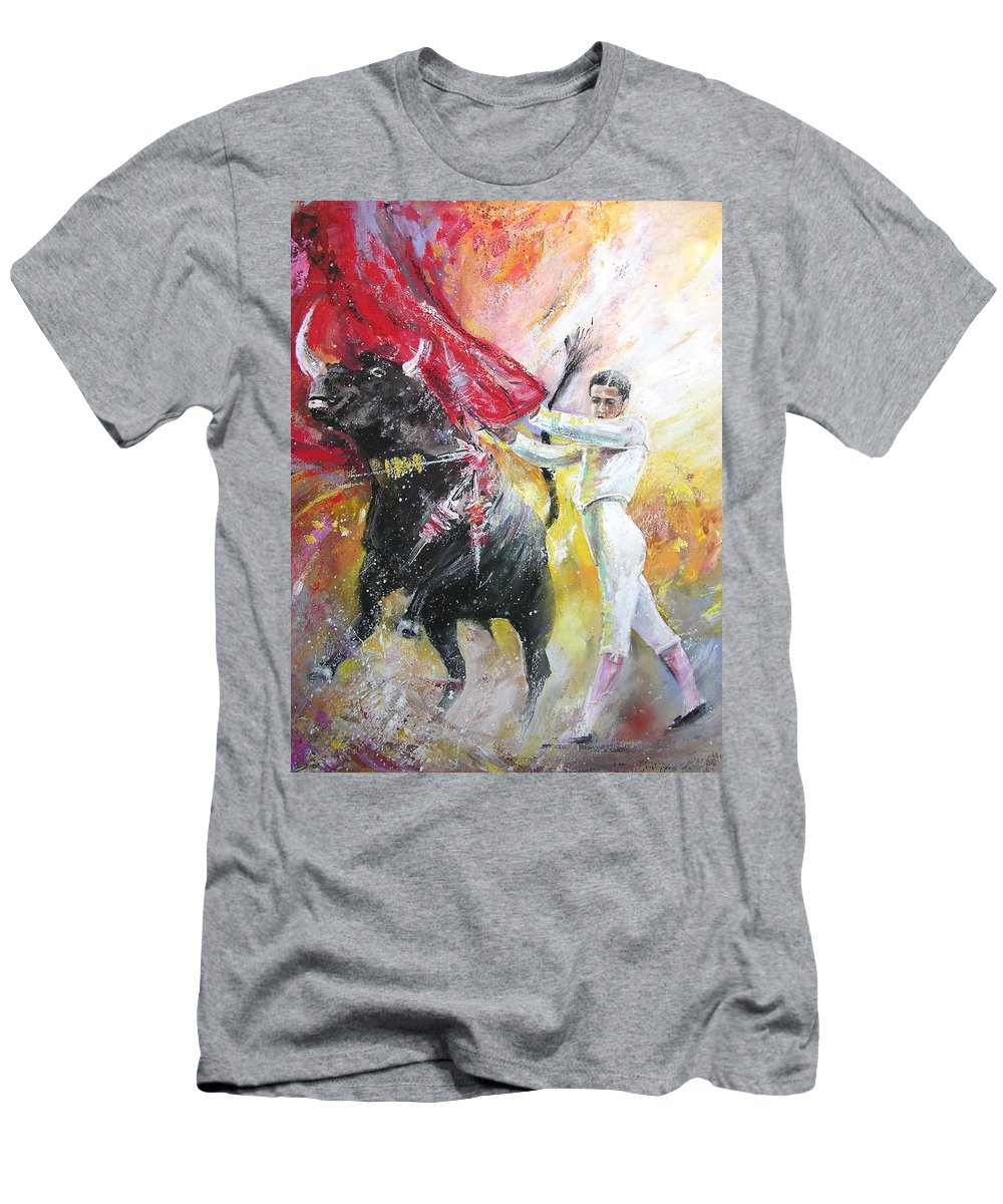 Animals Men's T-Shirt (Athletic Fit) featuring the painting Ole by Miki De Goodaboom