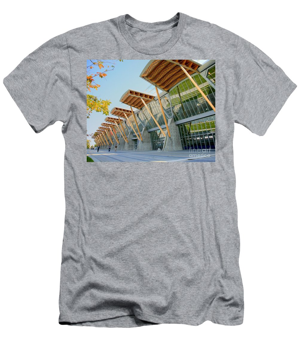 Olympics Men's T-Shirt (Athletic Fit) featuring the photograph Olympic Oval by Chris Dutton