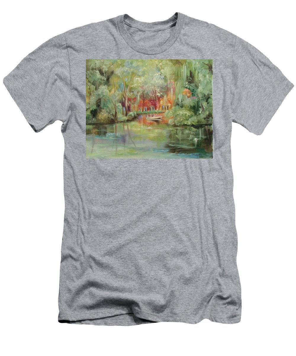 Bayou Men's T-Shirt (Athletic Fit) featuring the painting On A Bayou by Ginger Concepcion