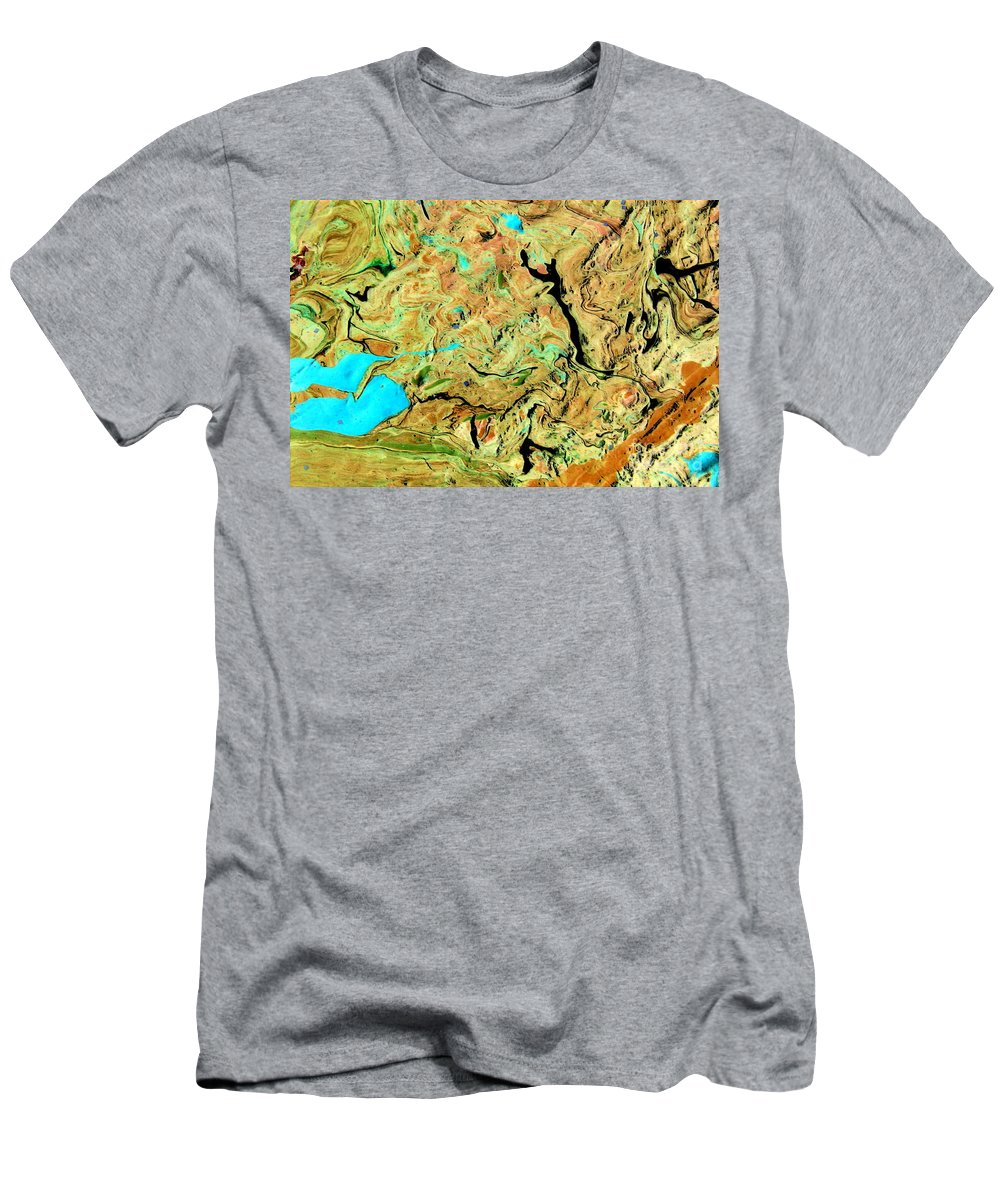 Solid Ground Men's T-Shirt (Athletic Fit) featuring the painting On Solid Ground by Dawn Hough Sebaugh
