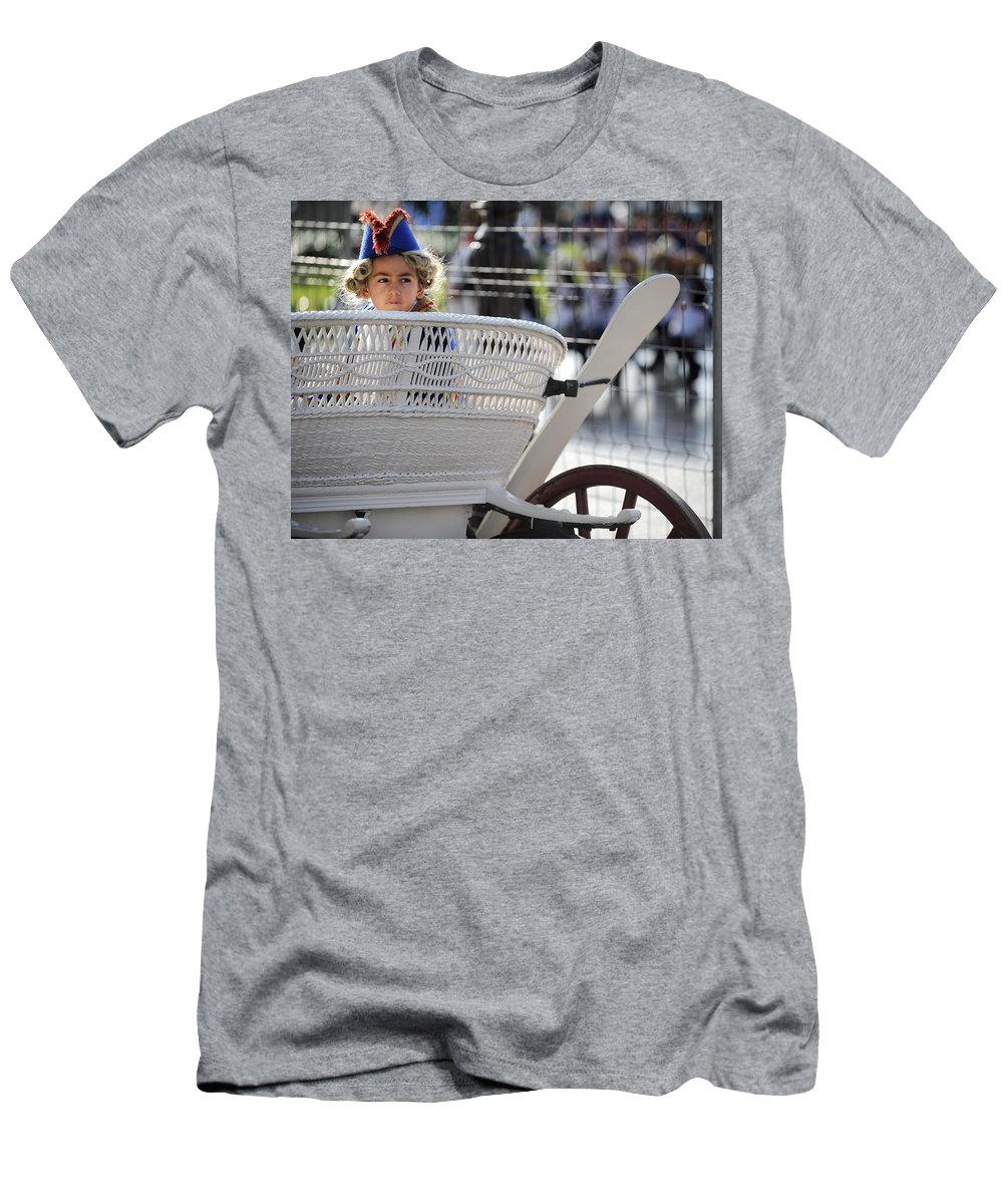 Spain Men's T-Shirt (Athletic Fit) featuring the photograph On The Carriage II by Rafa Rivas