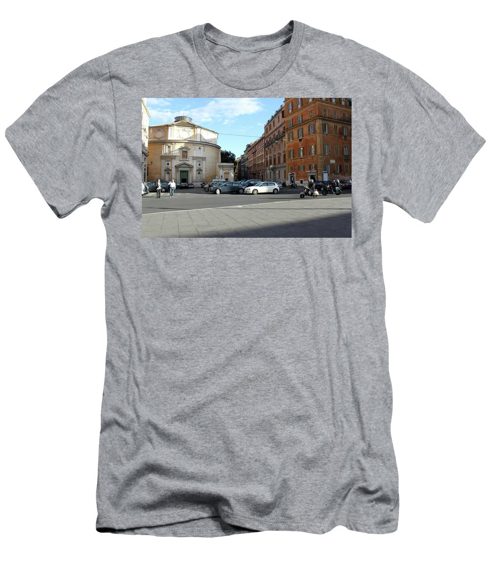 Rome Men's T-Shirt (Athletic Fit) featuring the photograph On The Street by Munir Alawi
