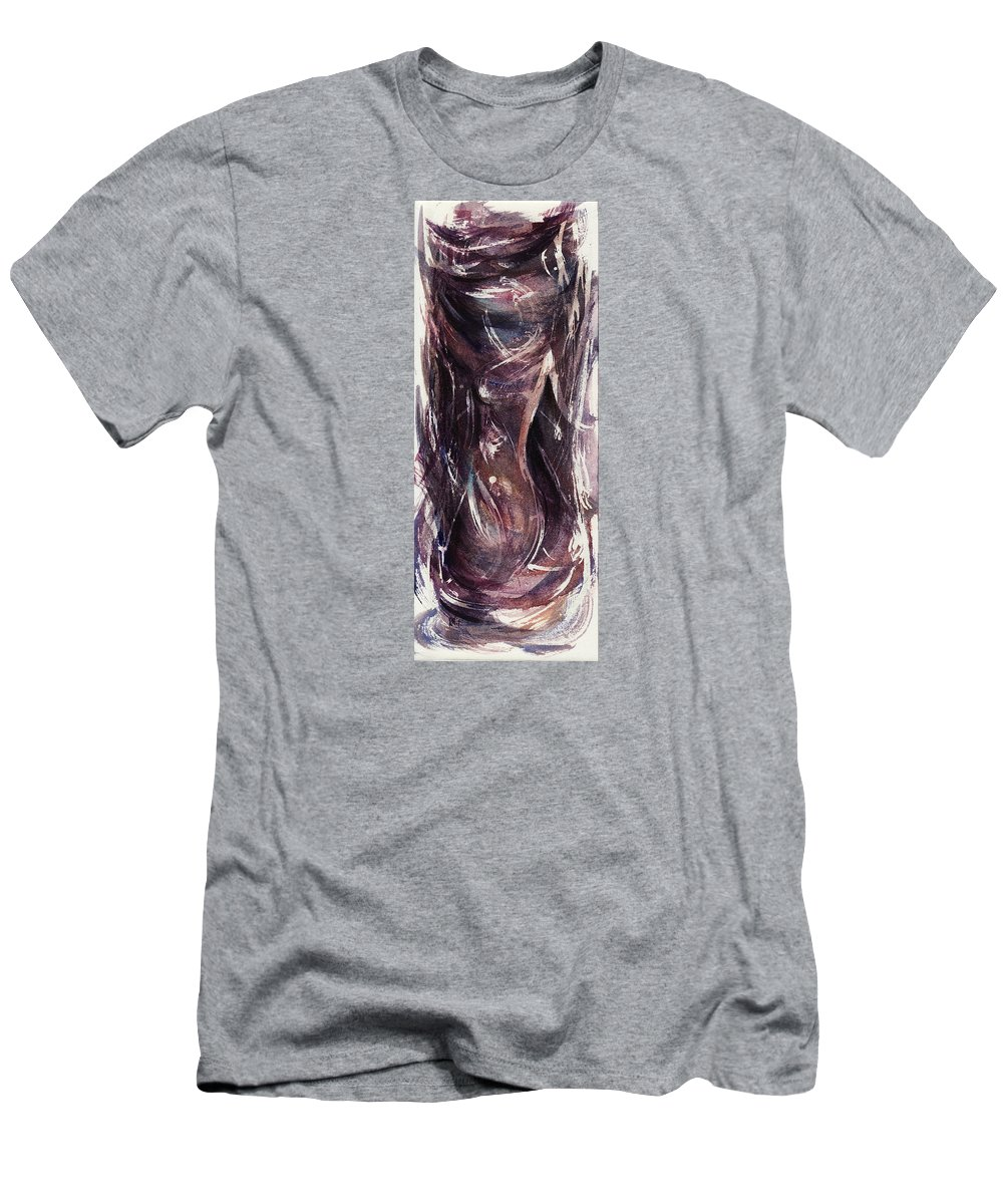 Floral Men's T-Shirt (Athletic Fit) featuring the painting On Wings In A Storm by Rachel Christine Nowicki