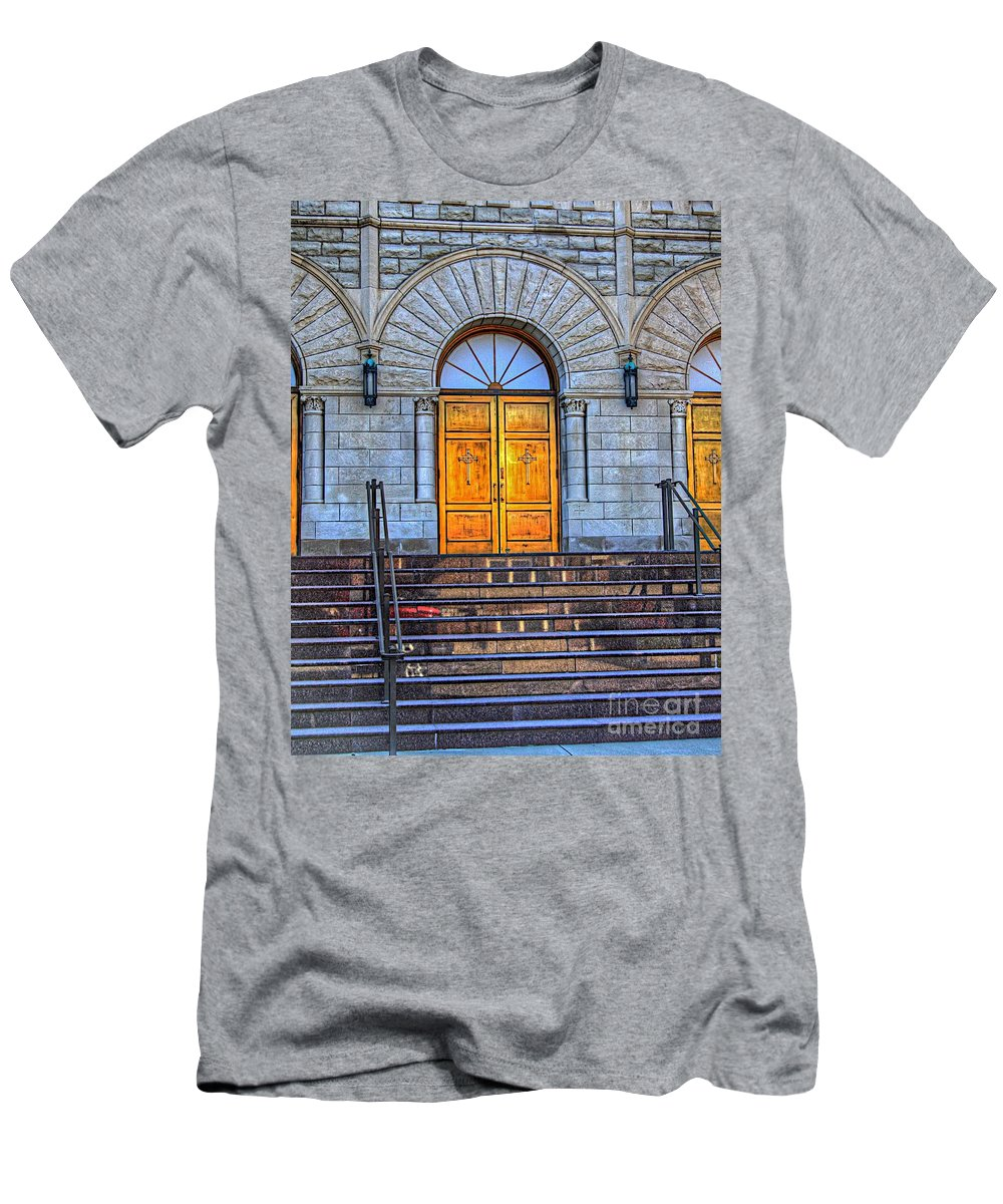 For Men's T-Shirt (Athletic Fit) featuring the photograph One Door And Only One by Robert Pearson