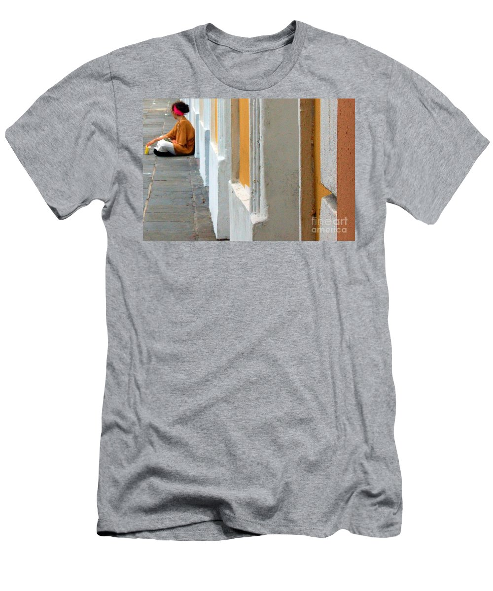 Sidewalk Men's T-Shirt (Athletic Fit) featuring the photograph One Is The Loneliest Number by Debbi Granruth
