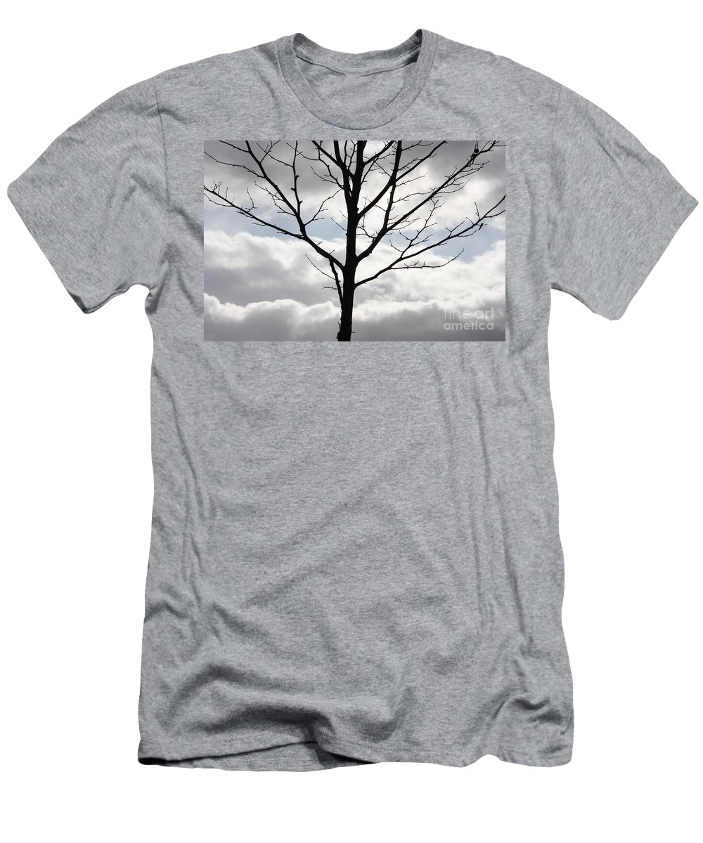 Winter Men's T-Shirt (Athletic Fit) featuring the photograph One Winter Tree With Clouds by Carol Groenen
