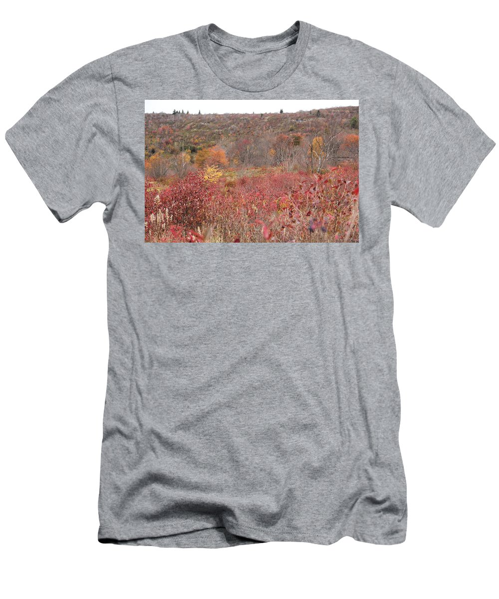 Field Men's T-Shirt (Athletic Fit) featuring the photograph Open Field View by Allen Nice-Webb