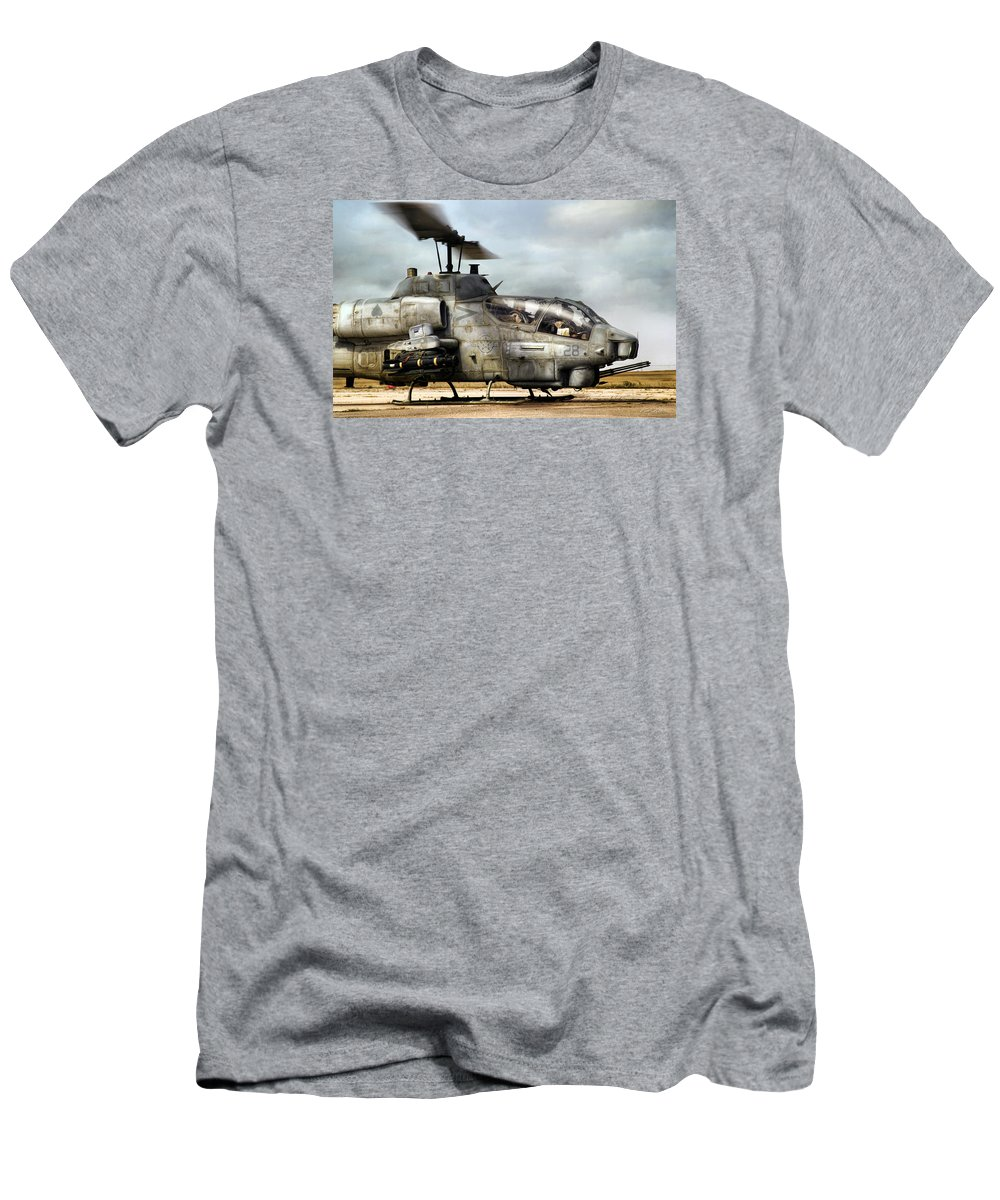 Aviation Men's T-Shirt (Athletic Fit) featuring the digital art Ophidiophobia by Peter Chilelli