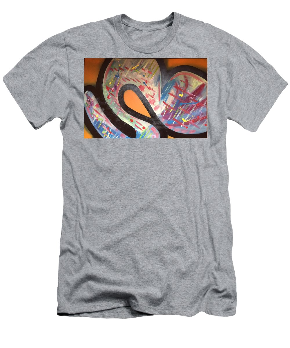 Abstract Men's T-Shirt (Athletic Fit) featuring the painting Orange U R? by Robert