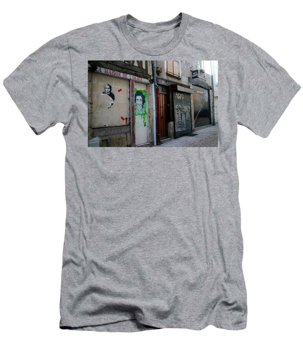 Alley Men's T-Shirt (Athletic Fit) featuring the photograph Orleans France Alley by Minaz Jantz