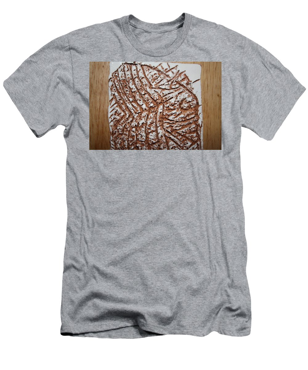 Jesus Men's T-Shirt (Athletic Fit) featuring the ceramic art Oscar - Tile by Gloria Ssali
