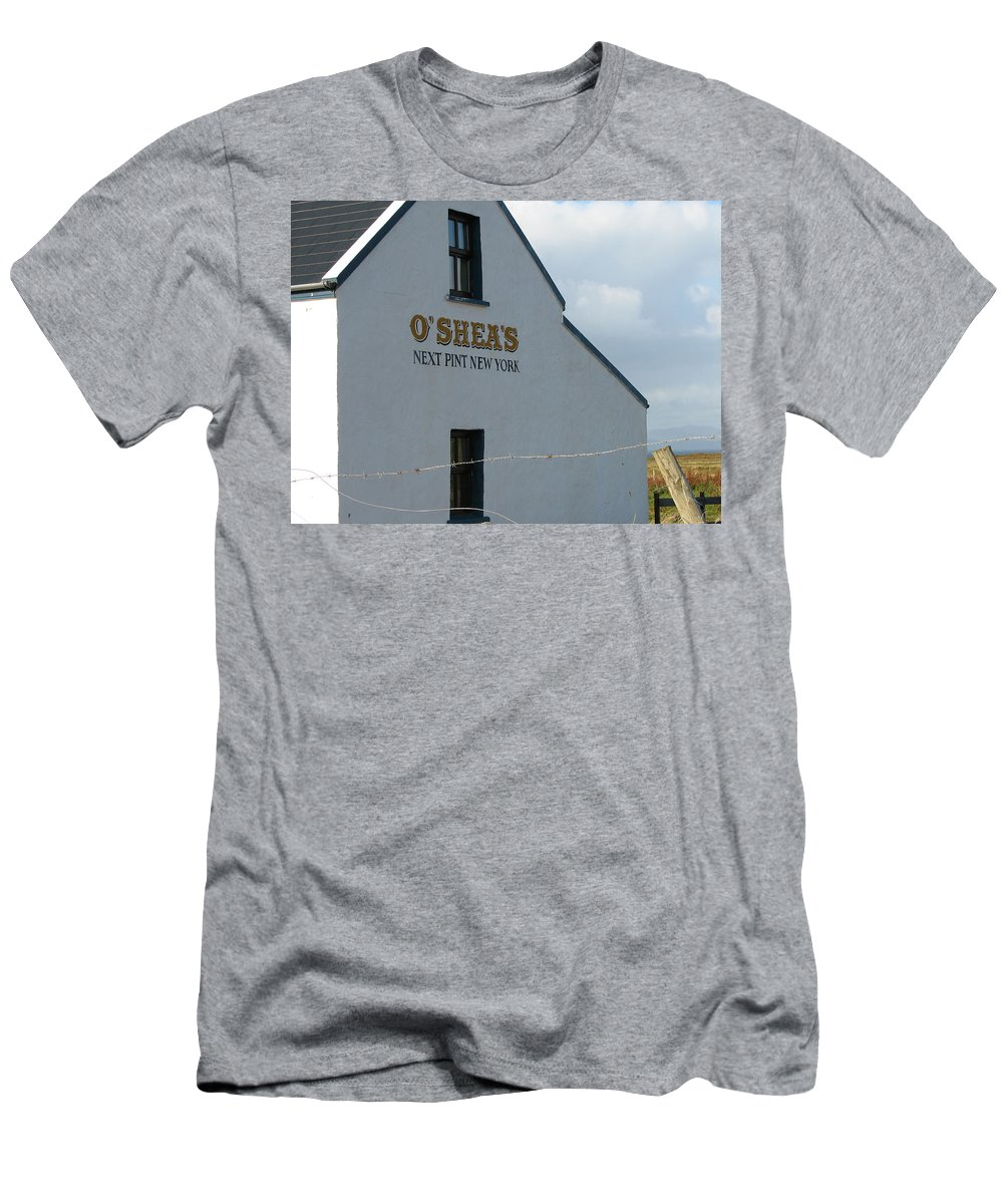 Pub Men's T-Shirt (Athletic Fit) featuring the photograph O'shea's by Kelly Mezzapelle
